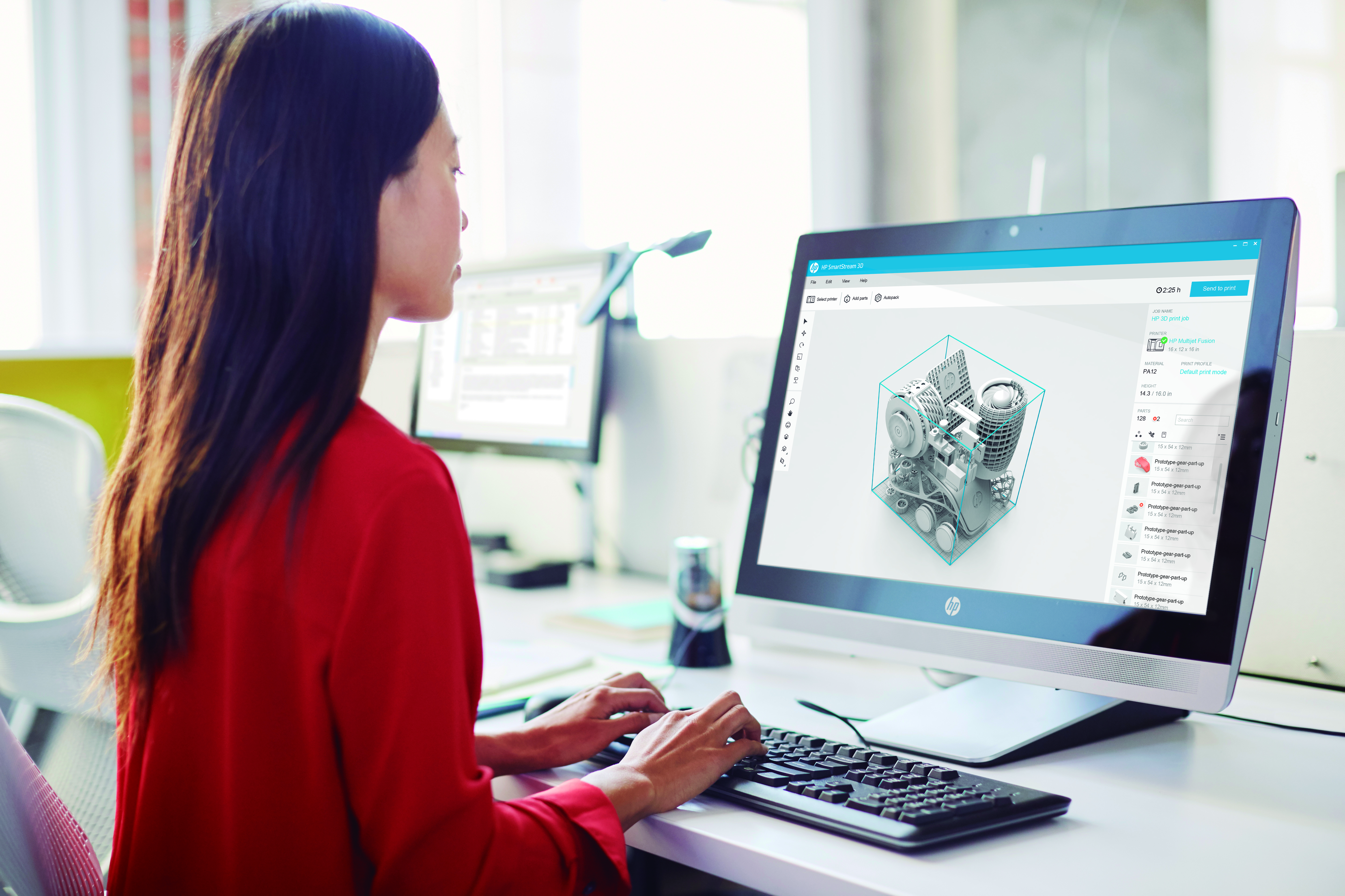 A woman working on SmartStream 3D