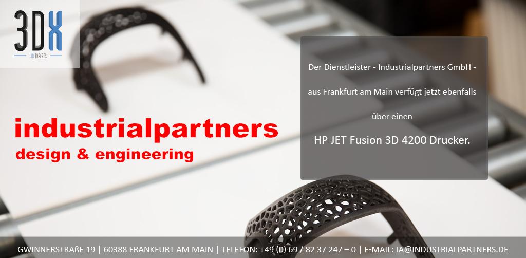 industrialpartners nutzt ab jetzt die HP Multi Jet Fusion Technologie