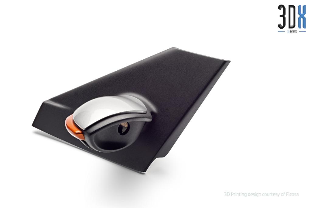 HP Jet Fusion 3D Druck Musterteil Außenspiegel gedruckt in Pa 12