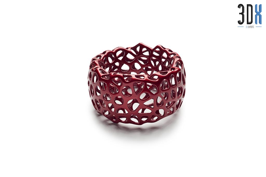 HP Jet Fusion 3D Druck Musterteil Ring mit Struktur gedruckt in Pa 12