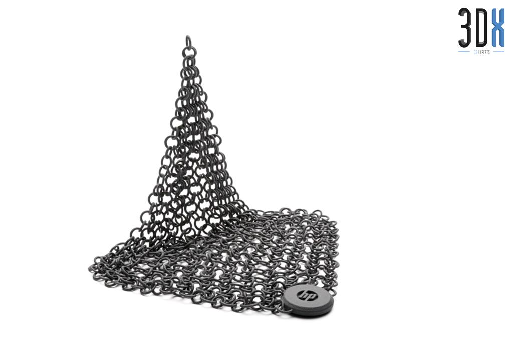HP Jet Fusion 3D Druck Musterteil Kettenglieder gedruckt in Pa 12