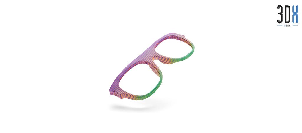HP Jet Fusion 3D Druck Musterteil Brille gedruckt in Pa 12