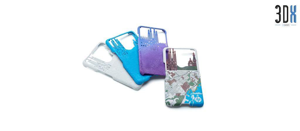 HP Jet Fusion 3D Druck Musterteil Handyhüllen gedruckt in Pa 12