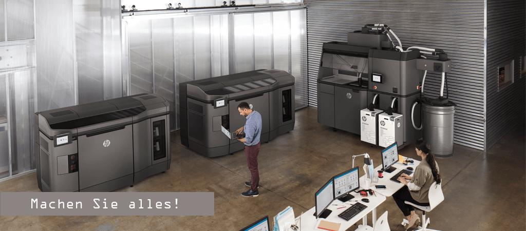 HP Muti Jet Fusion Drucker und Processingstation