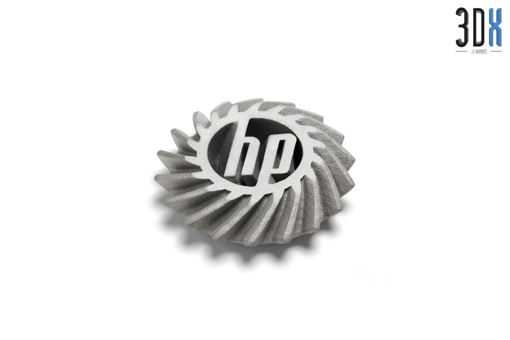 HP Metal Jet Fusion 3D Musterteil Logo