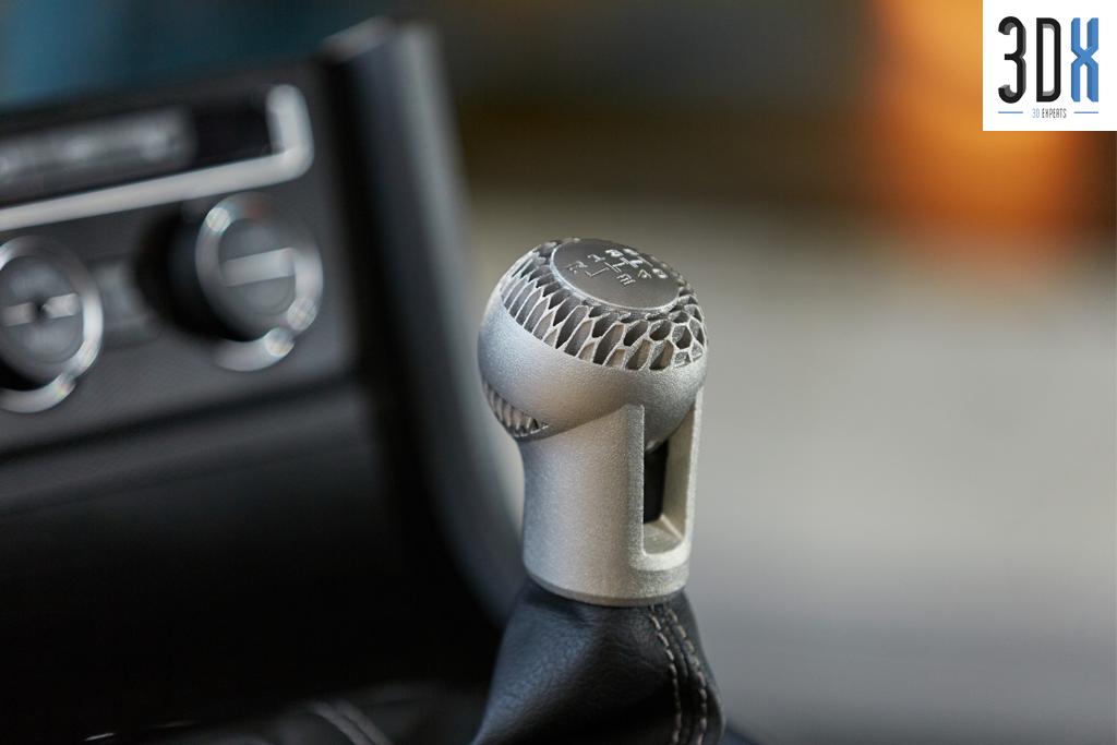 HP Metal Jet Fusion 3D Musterteil Schaltknopf VW