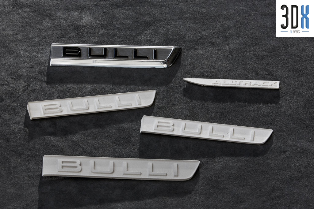 HP Metal Jet Fusion 3D Musterteil VW Bulli