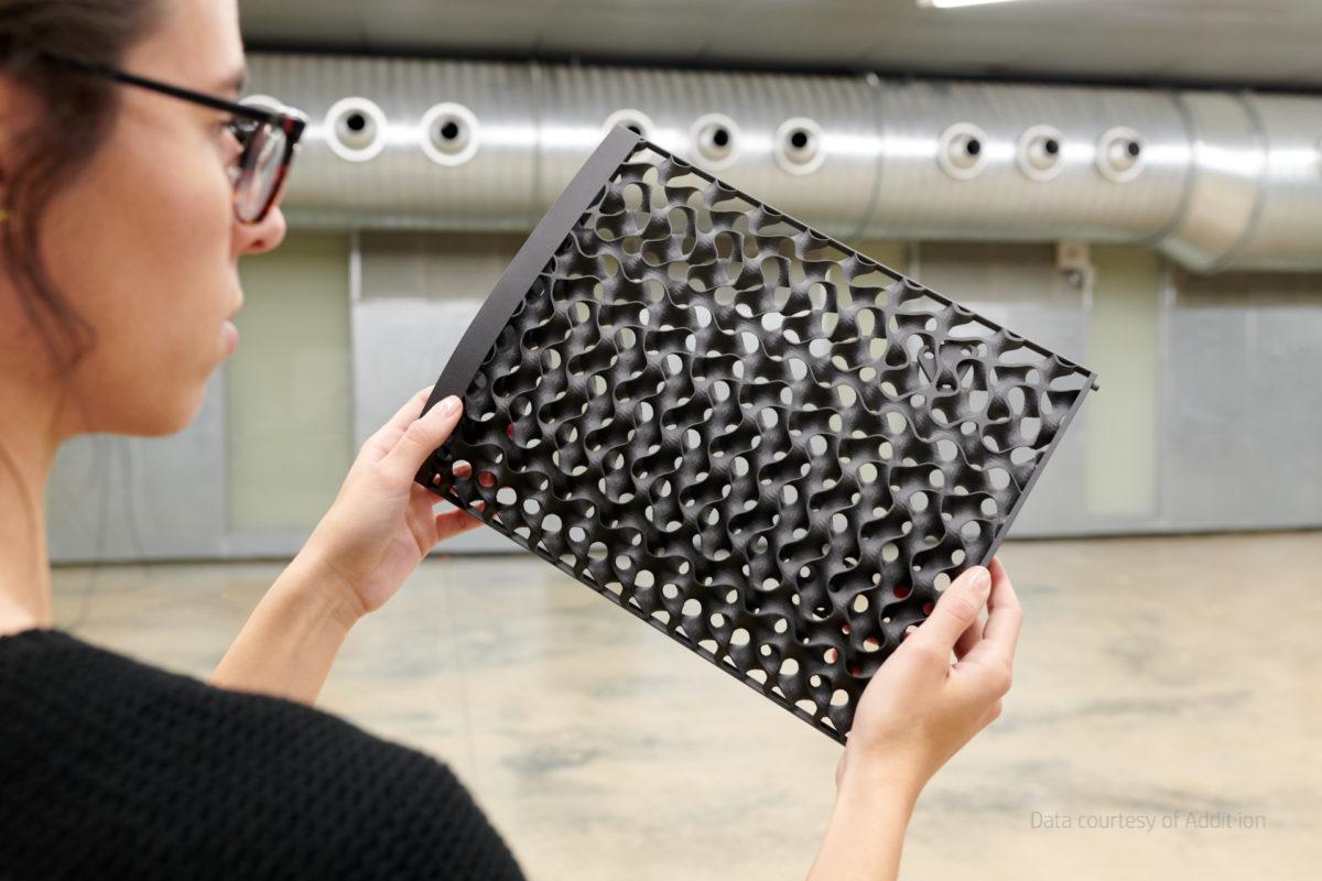 Aerodynamischer Flügelkern gedruckt mit HP Jet Fusion 5200 3D Drucker