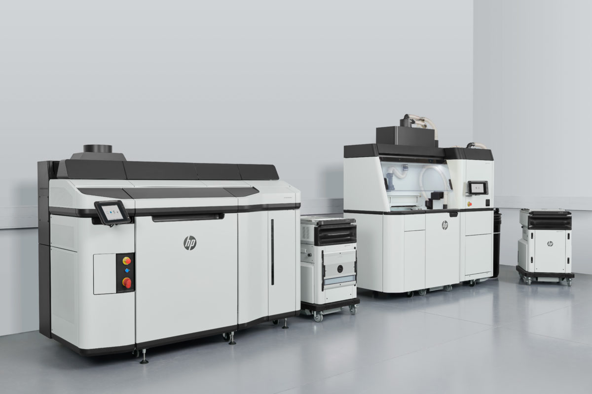 HP Jet Fusion 5200 3D Drucker mit Processing Station