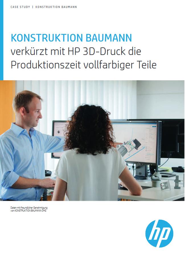 KONSTRUKTION BAUMANNverkürzt mit HP 3D-Druck die Produktionszeit vollfarbiger Teile