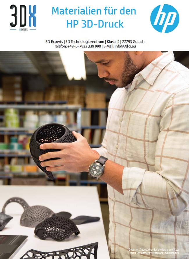 Materialien für den HP 3D-Druck